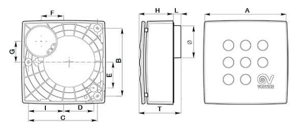 Vortice Quadro Micro 80 centrifugal fan extractor fan for