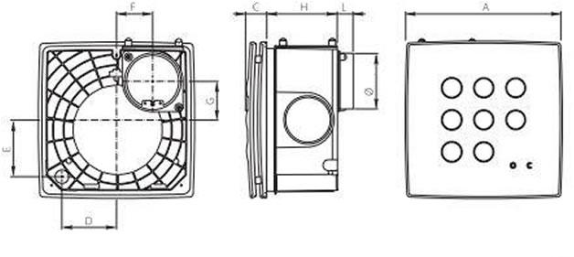 Vortice kitchen bathroom extractor fan Quadro Medio EP AC