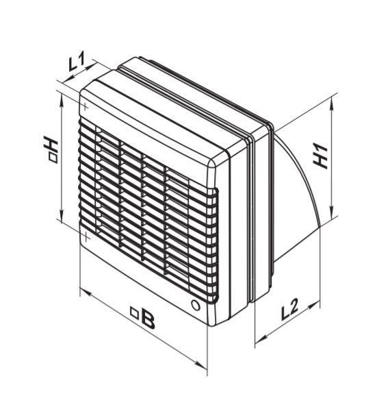 Évents Axial Fenêtre Extracteur Ventilateur 125 M1OK2