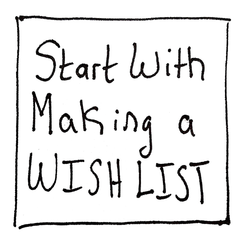 Start with Making a Wish List
