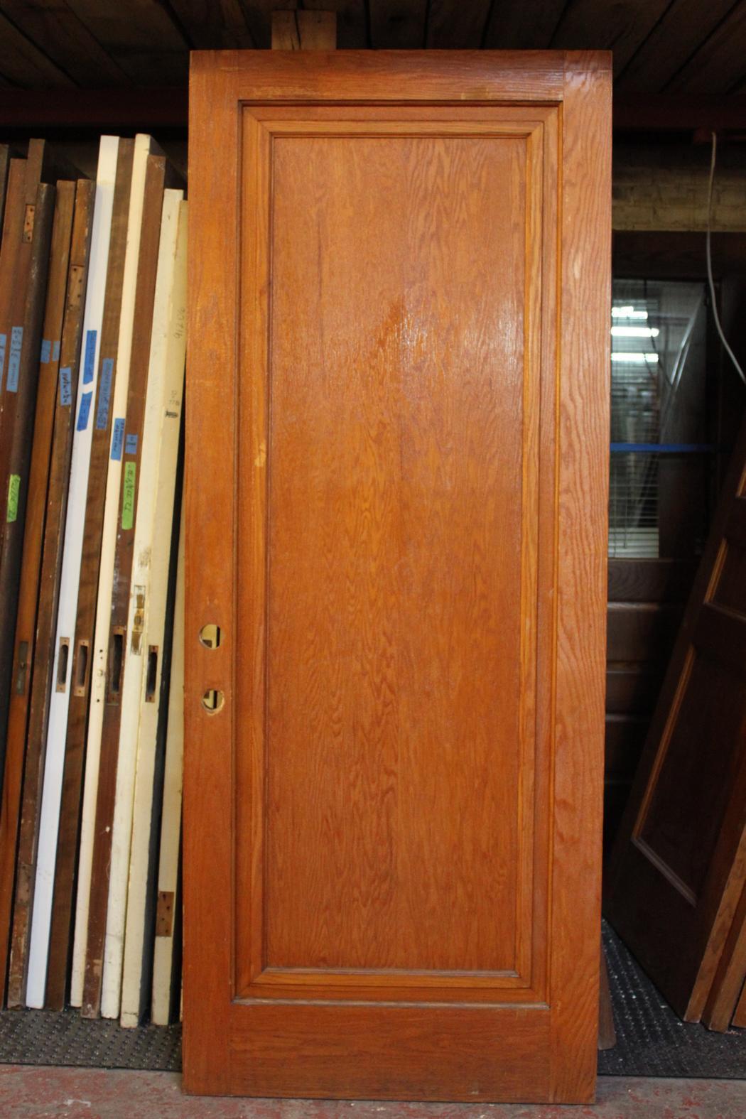 Oak Single Panel Door S Crescent Moon Antiques And Salvage