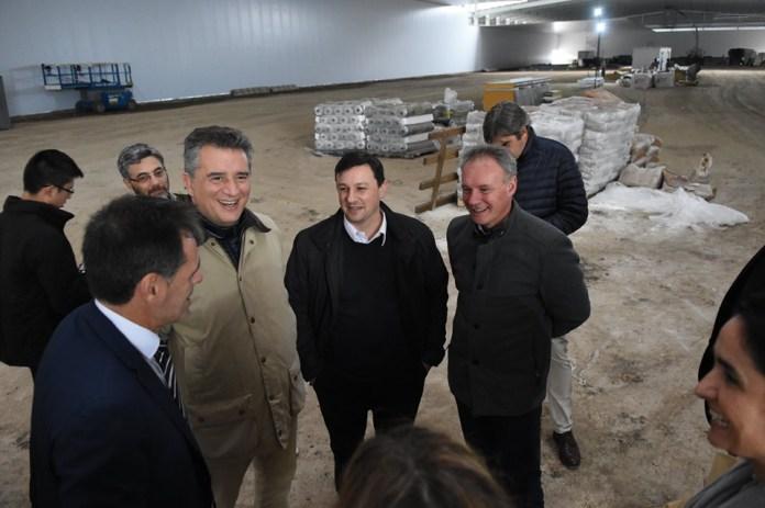 Recorrida a la nueva planta frigorífica que está construyendo el Grupo Motta.