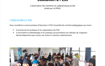 Lancement du fond d'intervention Éducation à l'Économie Sociale et Solidaire en Nouvelle-Aquitaine.