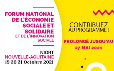 Prolongation jusqu'au 27 mai de l'appel à contribution du Form national de l'ESS & l'IS
