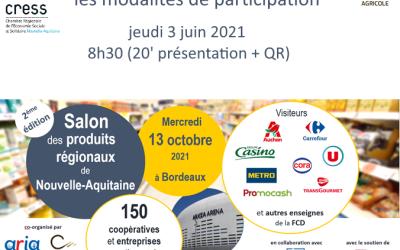 Participez au Salon des produits régionaux de NA – webinaire de présentation