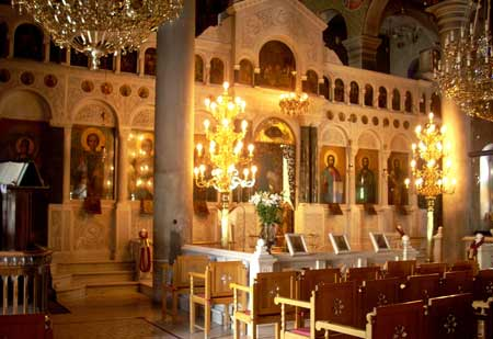 St John of the Russian church, inside view