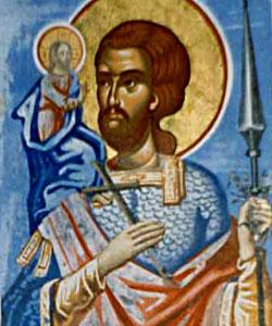 Sfantul Mucenic Hristofor - purtand pe umeri pe Hristos