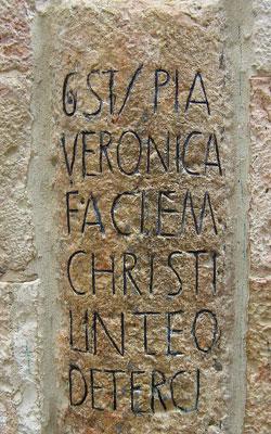 Drumul Crucii - Via Dolorosa - VI - Intalnirea Domnului cu Veronica