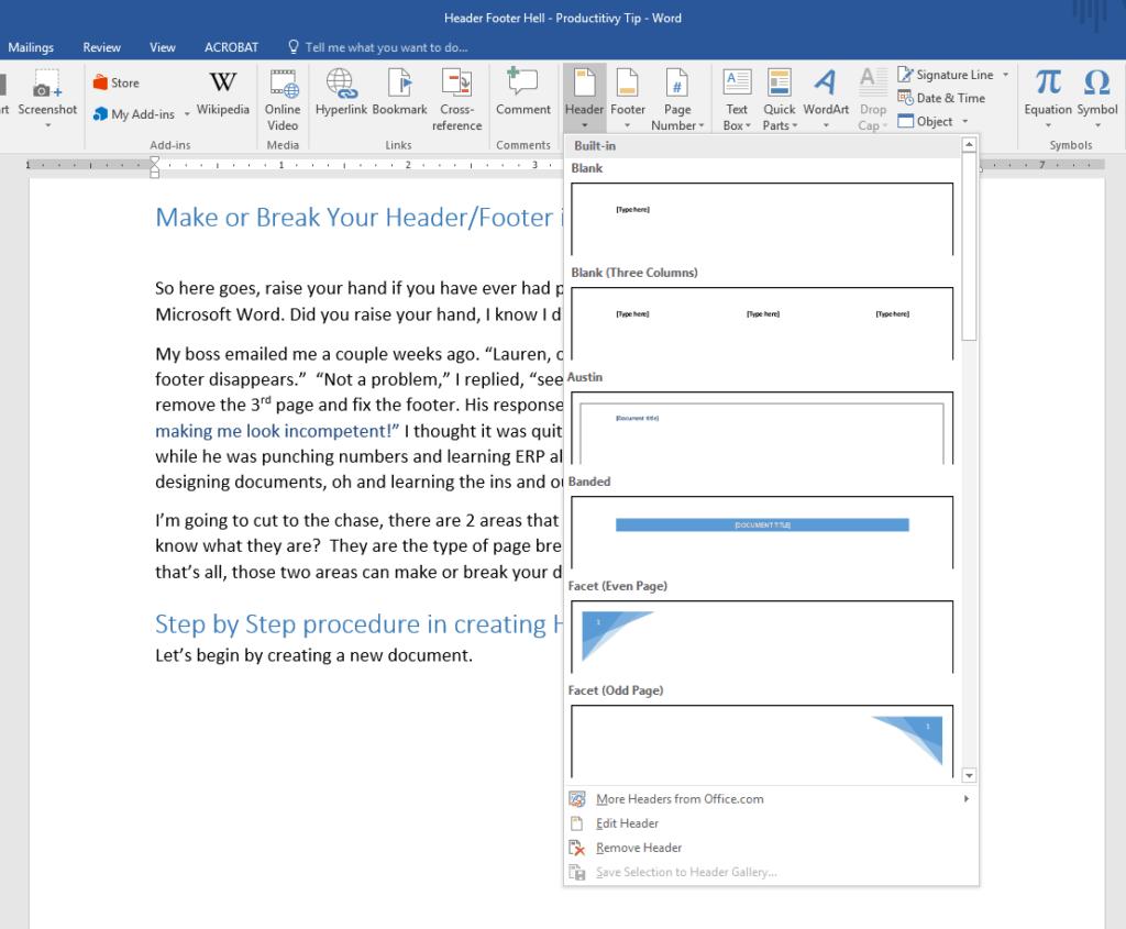 Make Or Break Your Headers Amp Footers In Microsoft Word