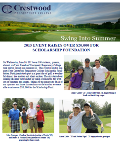 2015 Swing Into Summer Newsletter