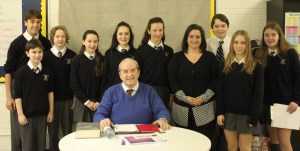 Leonard Vis with Ms. Winograd's English 8