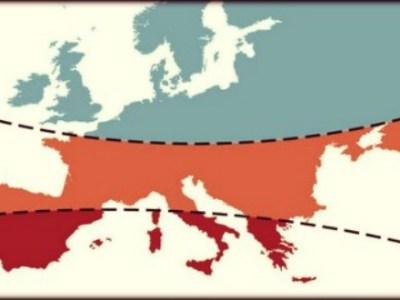 Χάρτης με τα στερεότυπα της Ευρώπης