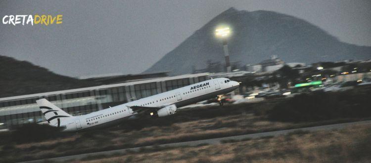 Aυξήθηκε η κίνηση στα αεροδρόμια της Κρήτης