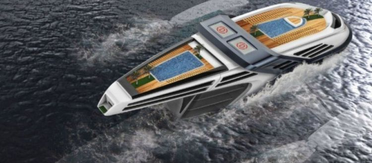Ένα φουτουριστικό οικολογικό yacht