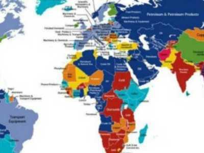Ο χάρτης των εξαγωγών κάθε χώρας
