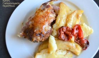 Το καλοκαιρινό μου ψητό: Αρνάκι με πατάτες στο φούρνο