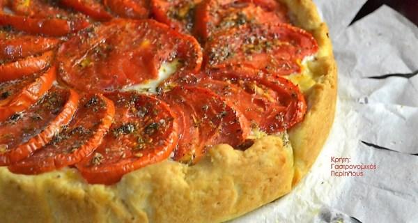 Ανοιχτή ντοματόπιτα με κιμά (video)
