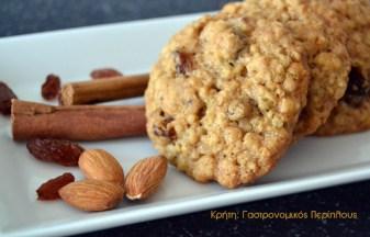 μπισκότα νιφάδες βρώμης μενού 44 κολάζ συνταγές cretangastronomy.gr
