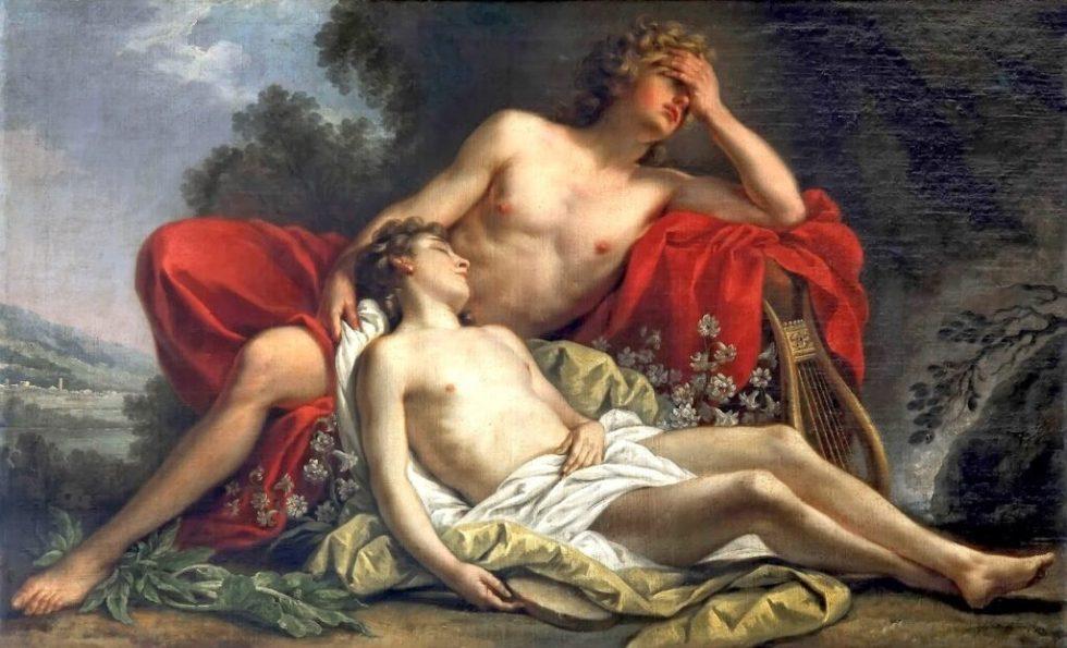 Nicolas-Rene Jollain - Ο θάνατος του Υάκινθου (1769)
