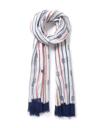Women's Breton Knots Scarf in White/Navy/Red from Crew ...