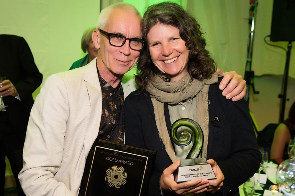 Mahana director Lee Tamahori and Cinematographer of the Year Ginny Loane
