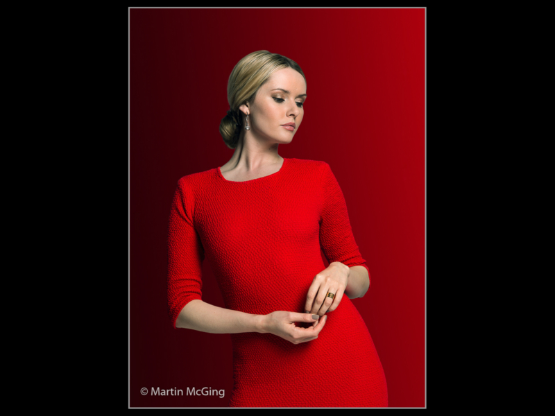 Martin McGing – Lady in Red_Portrait_28-2