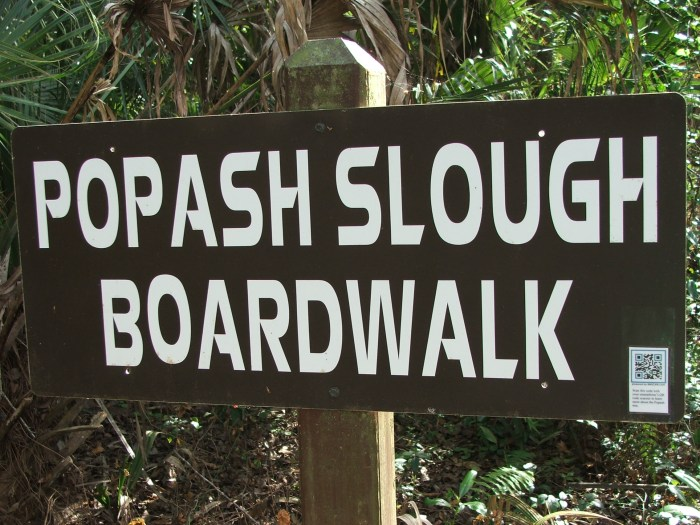 Popash Slough Boardwalk Sign