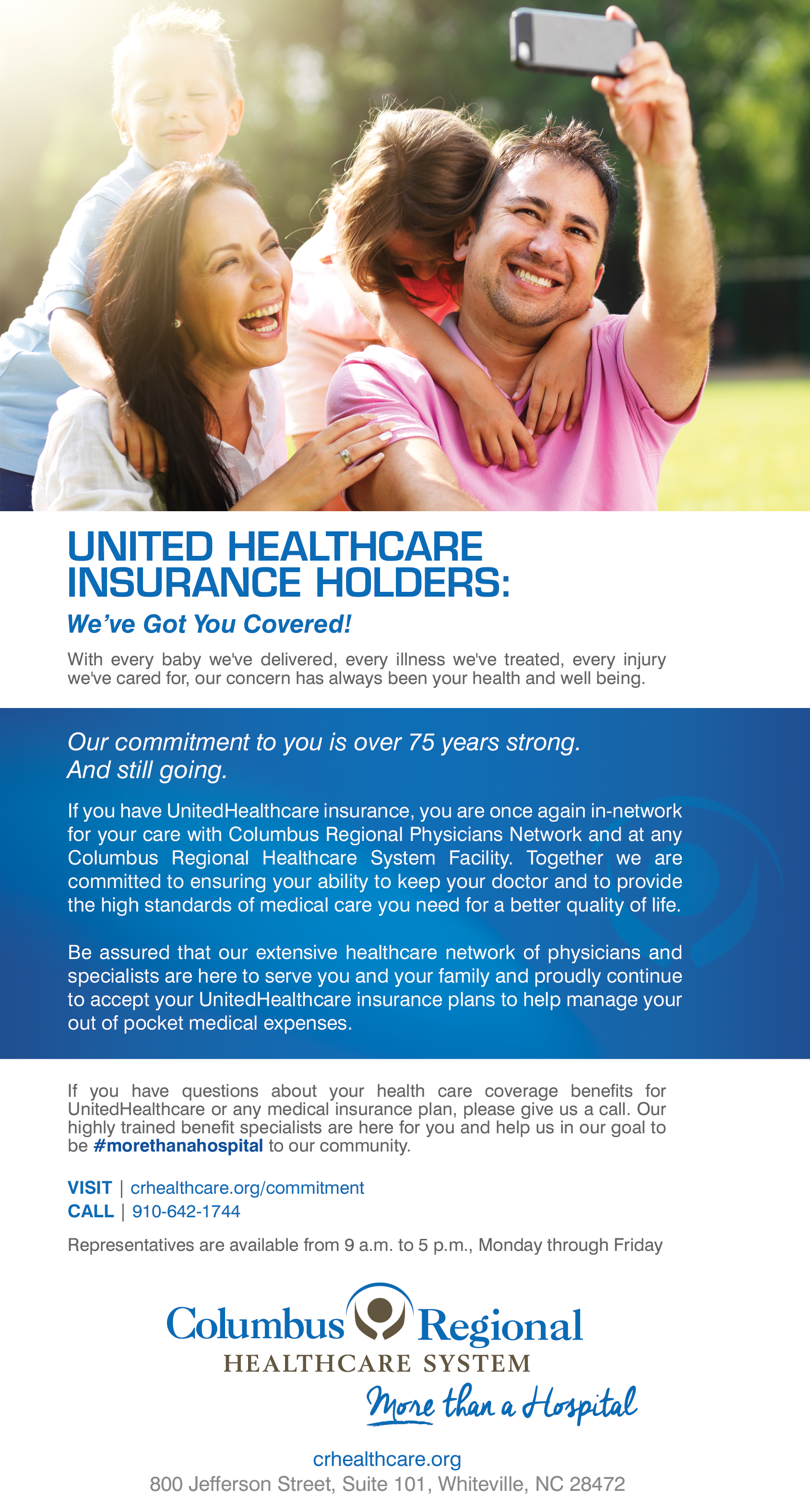 CRHS and UnitedHealthcare Renew Network Relationship