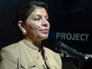 Laura Chinchilla defenderá hasta lo último la ampliación de la ruta 32, en sociedad con China. (CRH)