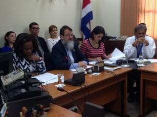 Epsy Campbell, diputada del PAC y Gerardo Vargas, del Frente Amplio, en la Comisión de Ingreso y Gasto. CRH