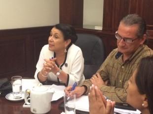 Sonia Marta Mora, ministra de Educación se mostró optimista para encontrar una solución rápida al problema de pago de los educadores. CRH