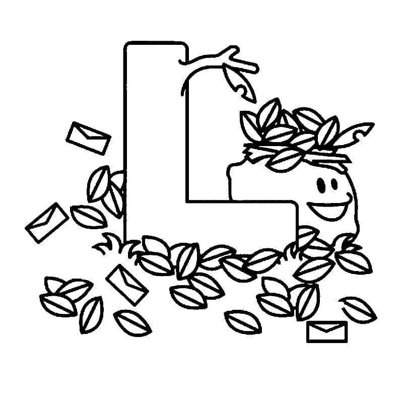 Moldes da Letra L para imprimir