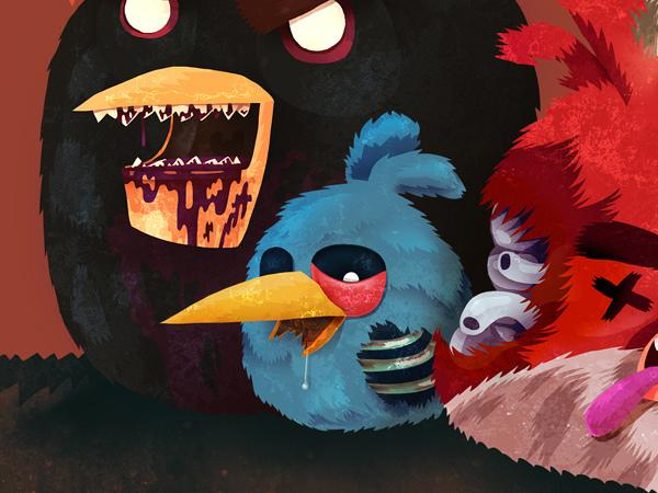 Ilustracoes Do Angry Birds Versao Zumbi Nerd Tatuado