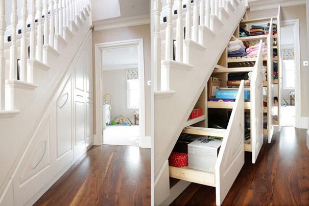 #16 - Transformando o buraco da escada pra guardar suas coisas.