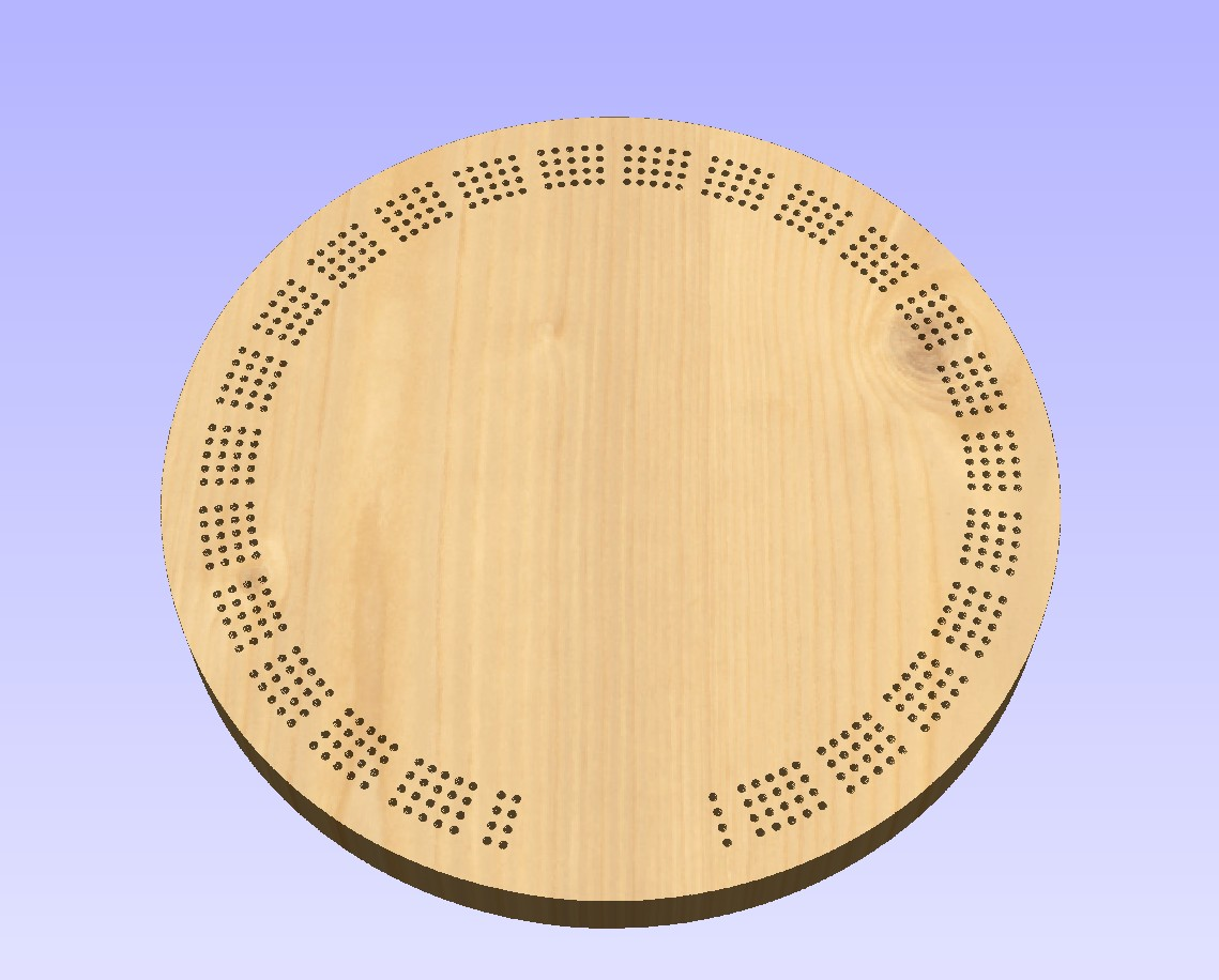 Cribbage Board Drilling Templates