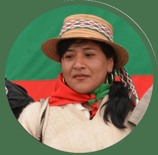 Consejera Mayor Aída Yolima Guegia - Zona Reasentamientos, Nasa Uss - Pueblo Nasa