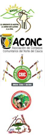 Consejo Territorial Interétnico e Intercultural del Norte del Cauca, el CRIC, ONIC y la Comisión Étnica para la Paz Nacional