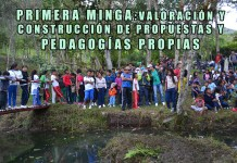 PRIMERA MINGA PARA LA VALORACIÓN Y CONSTRUCCIÓN DE PROPUESTAS Y PEDAGOGÍAS PROPIAS
