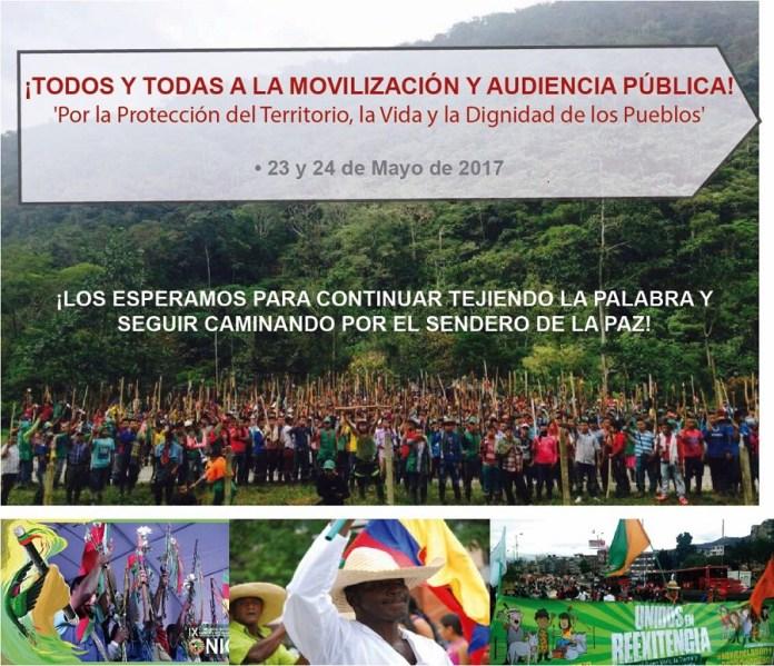 """Movilización y Audiencia Pública: """"Por la protección del territorio, la vida y la dignidad de los pueblos"""""""