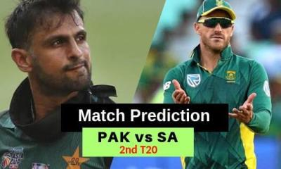 South Africa vs Pakistan 2nd T20 Match Prediction