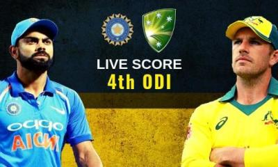 Ind vs Aus 4th ODI Live Score: India vs Australia Live Cricket Score