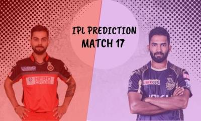 IPL 2019 Match 17 Prediction, RCB vs KKR Match Prediction