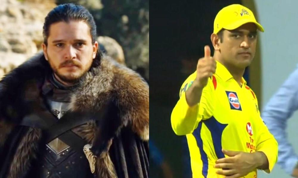 IPL Cricketer MS Dhoni is Equivalent to Game of Thrones Character Jon Snow