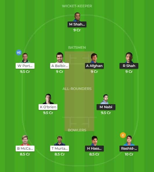 Dream 11 Tips Ireland vs Afghanistan 1st ODI