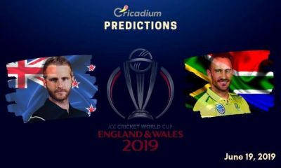 ICC World Cup 2019 Match 25 NZ vs SA Match Prediction Who Will Win