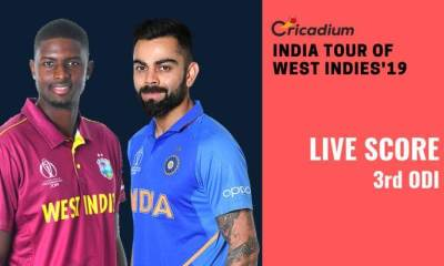 India tour of West Indies, 2019: WI vs IND 3rd ODI Live Score