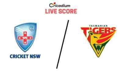 Australia Domestic Marsh One-Day Cup 2019 13th Match New South Wales vs Tasmania Live Cricket Score
