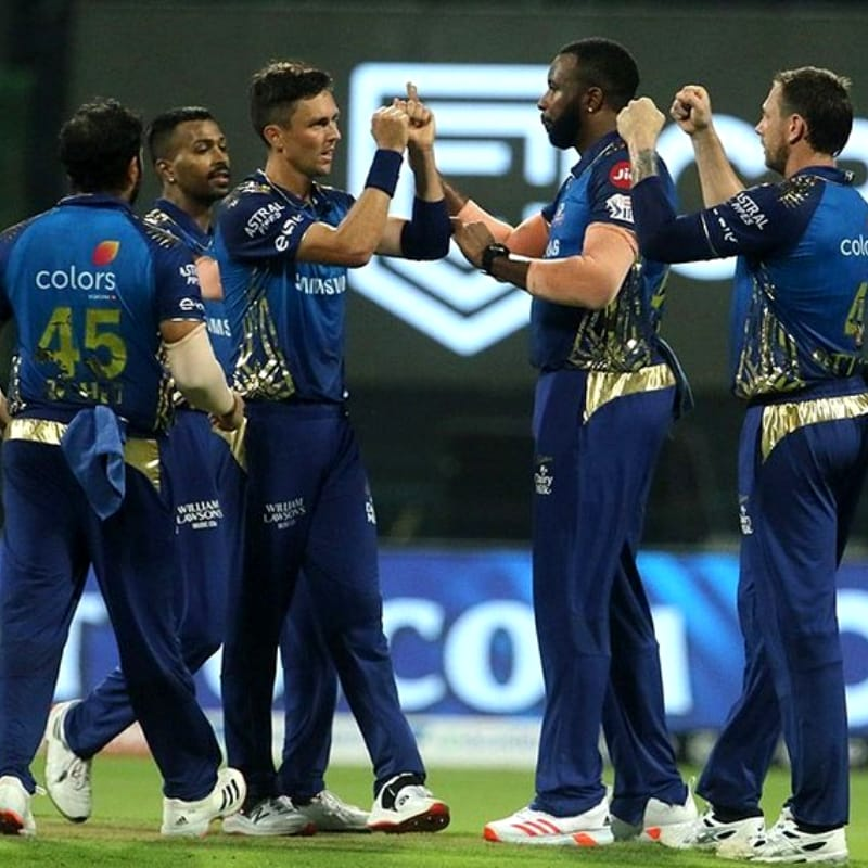 Mumbai Indians are at the 3rd position with 12 points