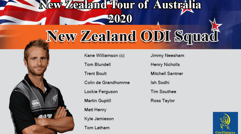 New Zealand tour of Australia 2020