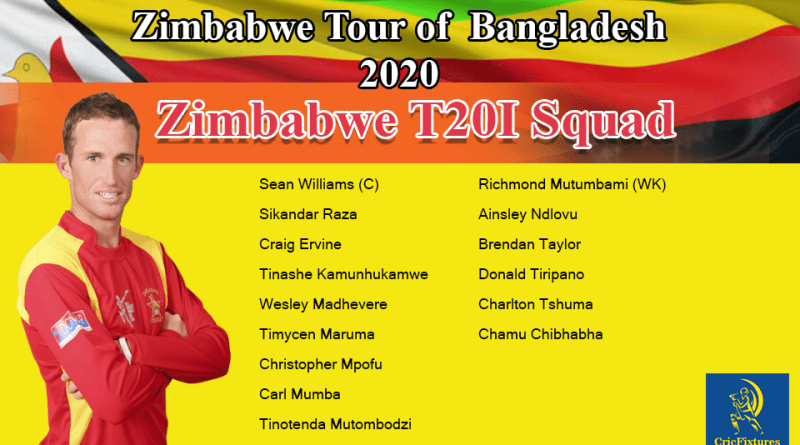 Zimbabwe Tour of Bangladesh 2020